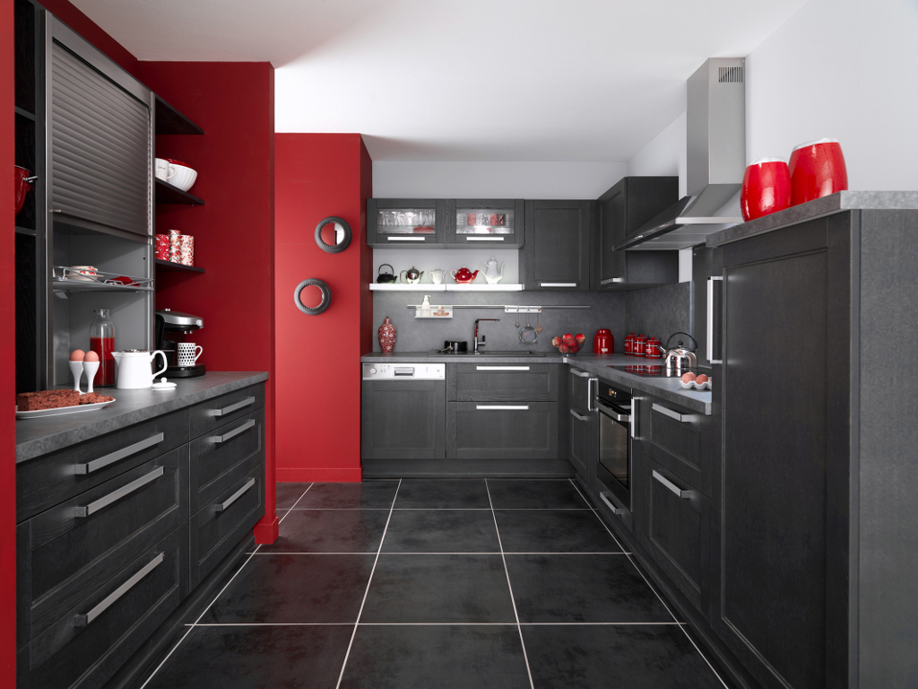 Carrelage cuisine noir - Idée de maison et déco