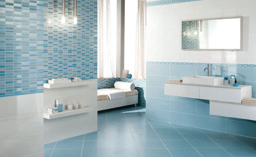 Attrayant Best Carrelage Sol Bleu Turquoise Images   House Design .