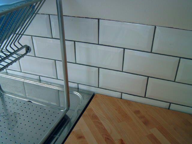 Carrelage metro noir joint gris - Idée de maison et déco