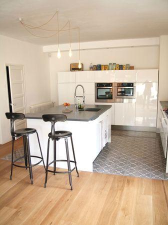 Carrelage parquet cuisine ouverte id e de maison et d co - Parquet cuisine ouverte ...