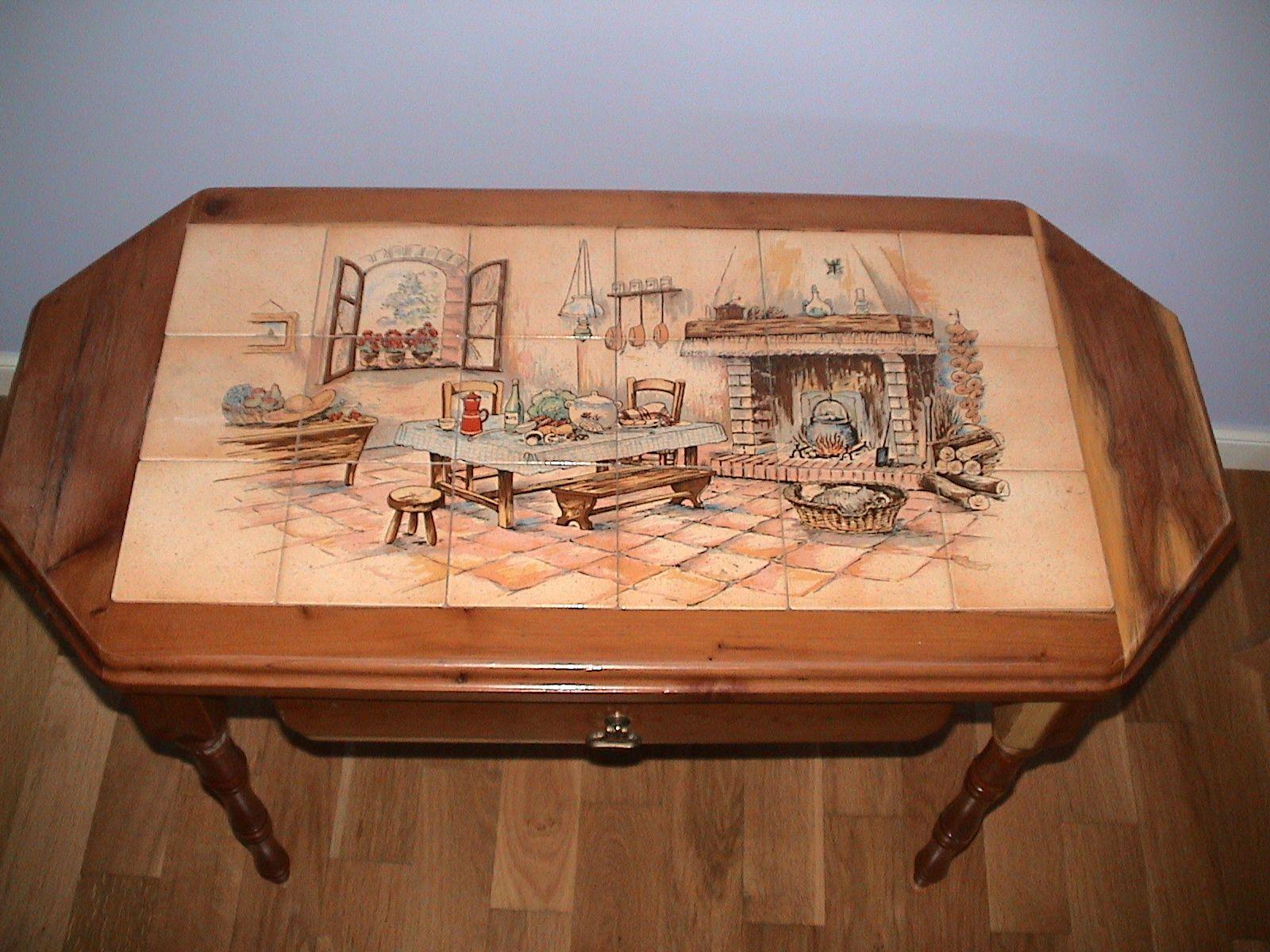 Carrelage cuisine fresque