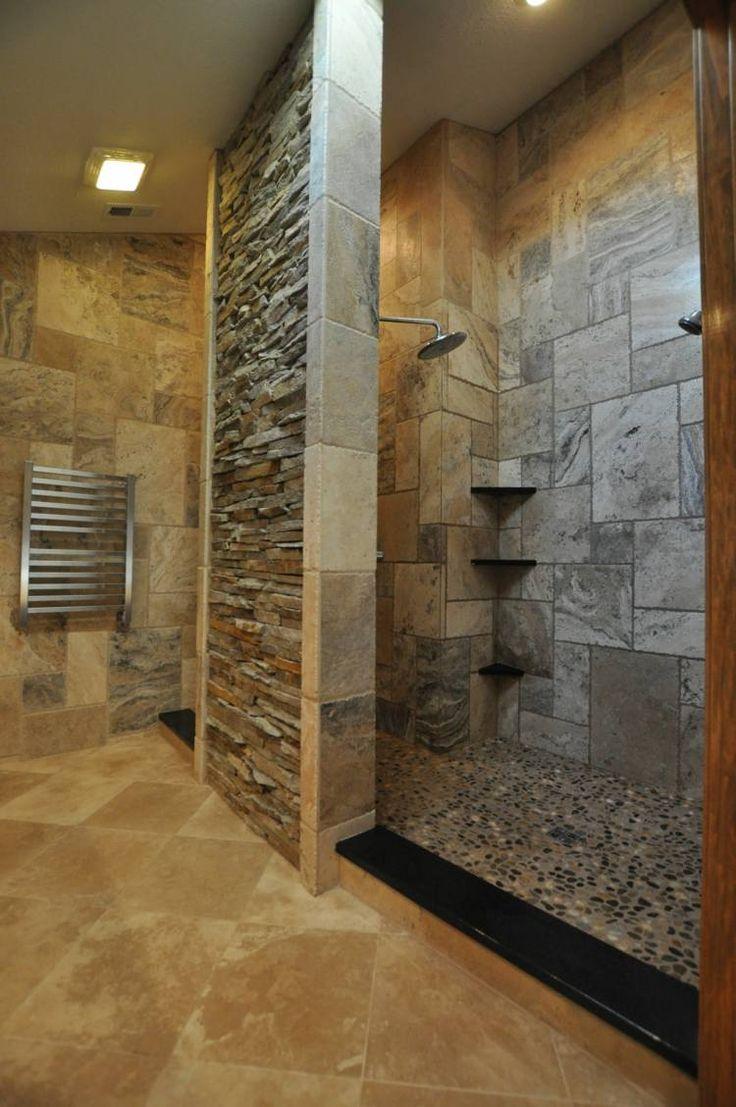 Carrelage salle de bain travertin