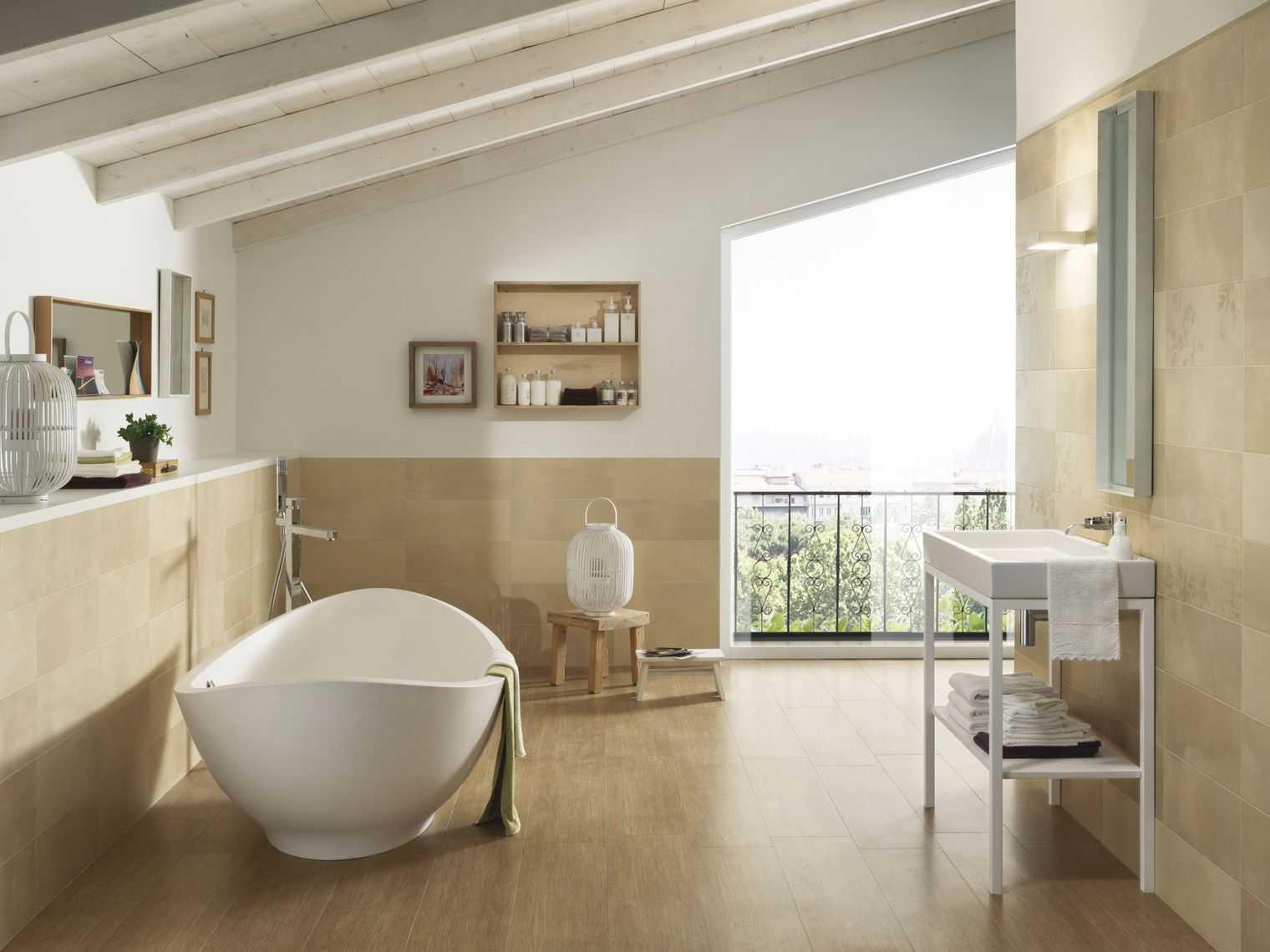 Carrelage salle de bain nature zen