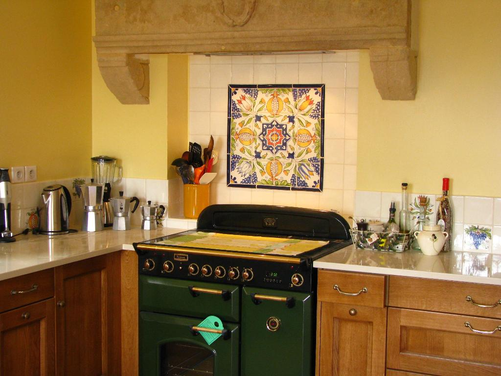 Carrelage cuisine traditionnel