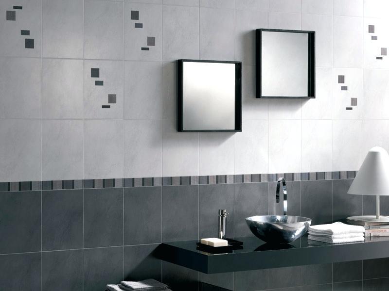 Carrelage salle de bain gris brillant