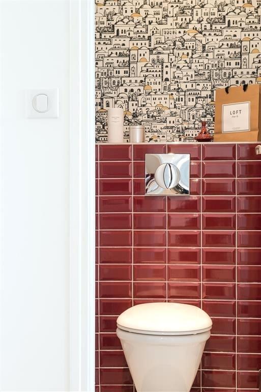 Carrelage metro rouge bordeaux - Idée de maison et déco