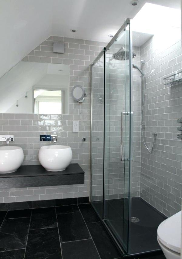 Carrelage salle de bain sol noir - Idée de maison et déco