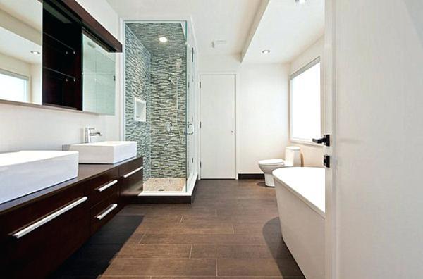 Carrelage parquet dans salle de bain - Idée de maison et déco
