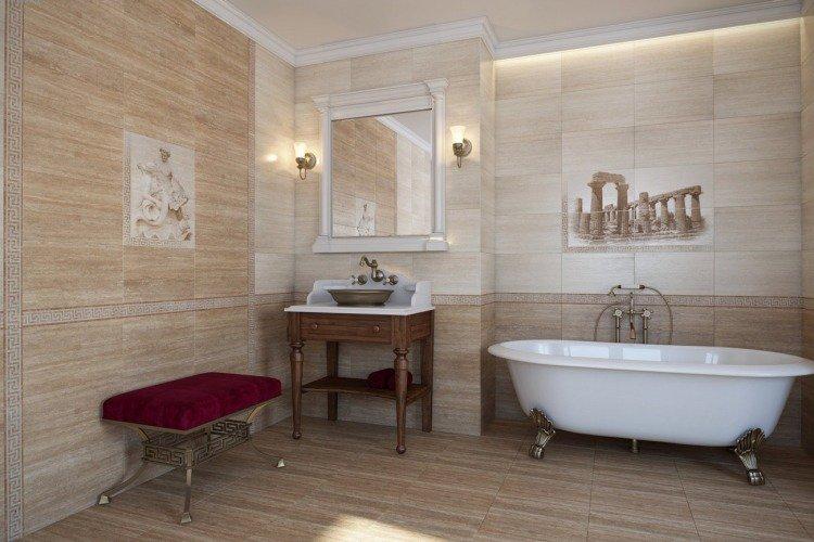 Carrelage imitation parquet salle de bain id e de maison et d co - Carrelage imitation parquet pour salle de bain ...