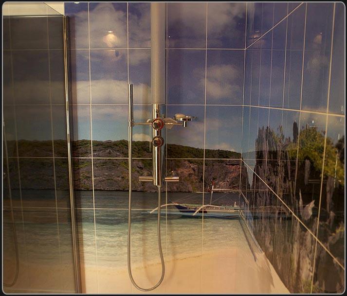 Carrelage salle de bain imprimé