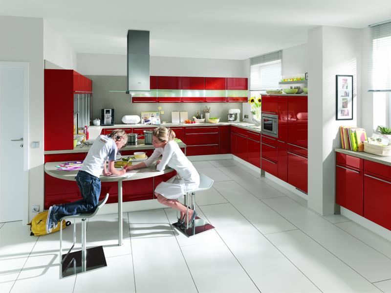 Carrelage cuisine rouge gris - Idée de maison et déco