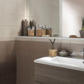 Carrelage salle de bain taupe castorama