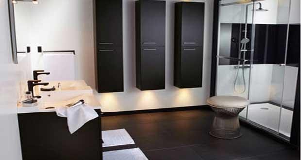 Carrelage noir salle de bain