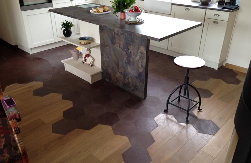 carrelage hexagonal parquet id e de maison et d co. Black Bedroom Furniture Sets. Home Design Ideas