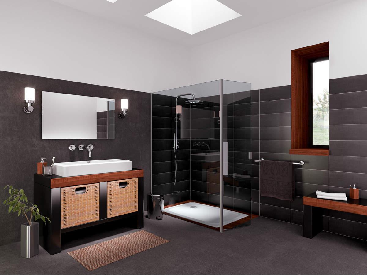 Carrelage salle de bain effet ciment