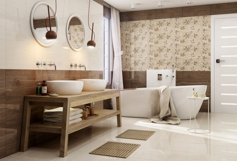 Carrelage salle de bain motif