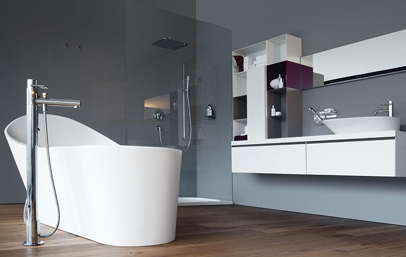 Carrelage salle de bain chez aubade