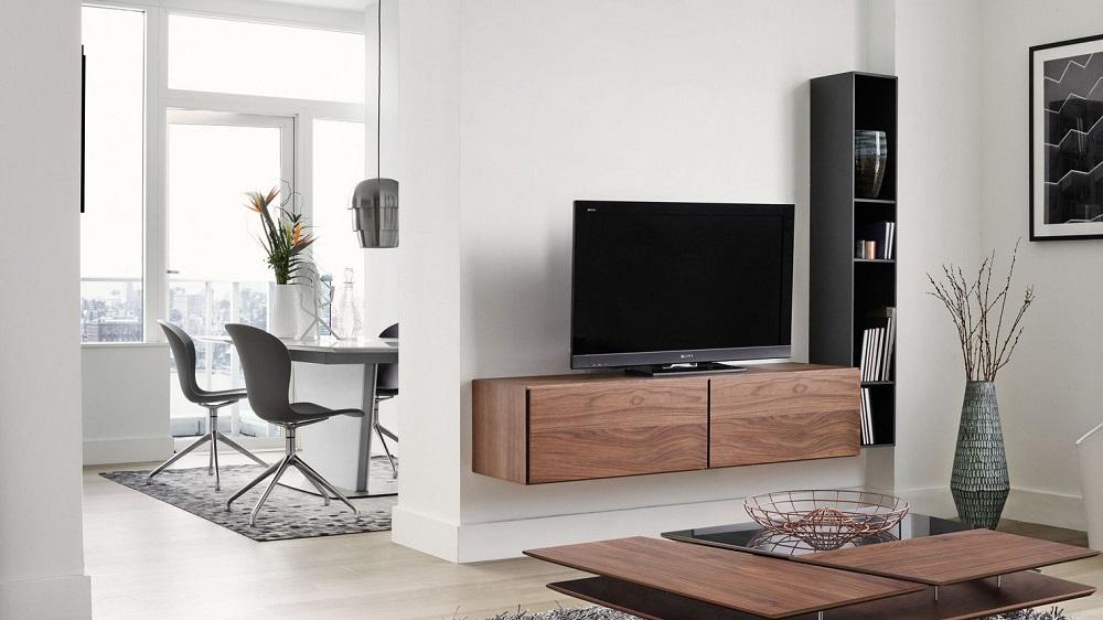 meuble tv qui prend pas de place