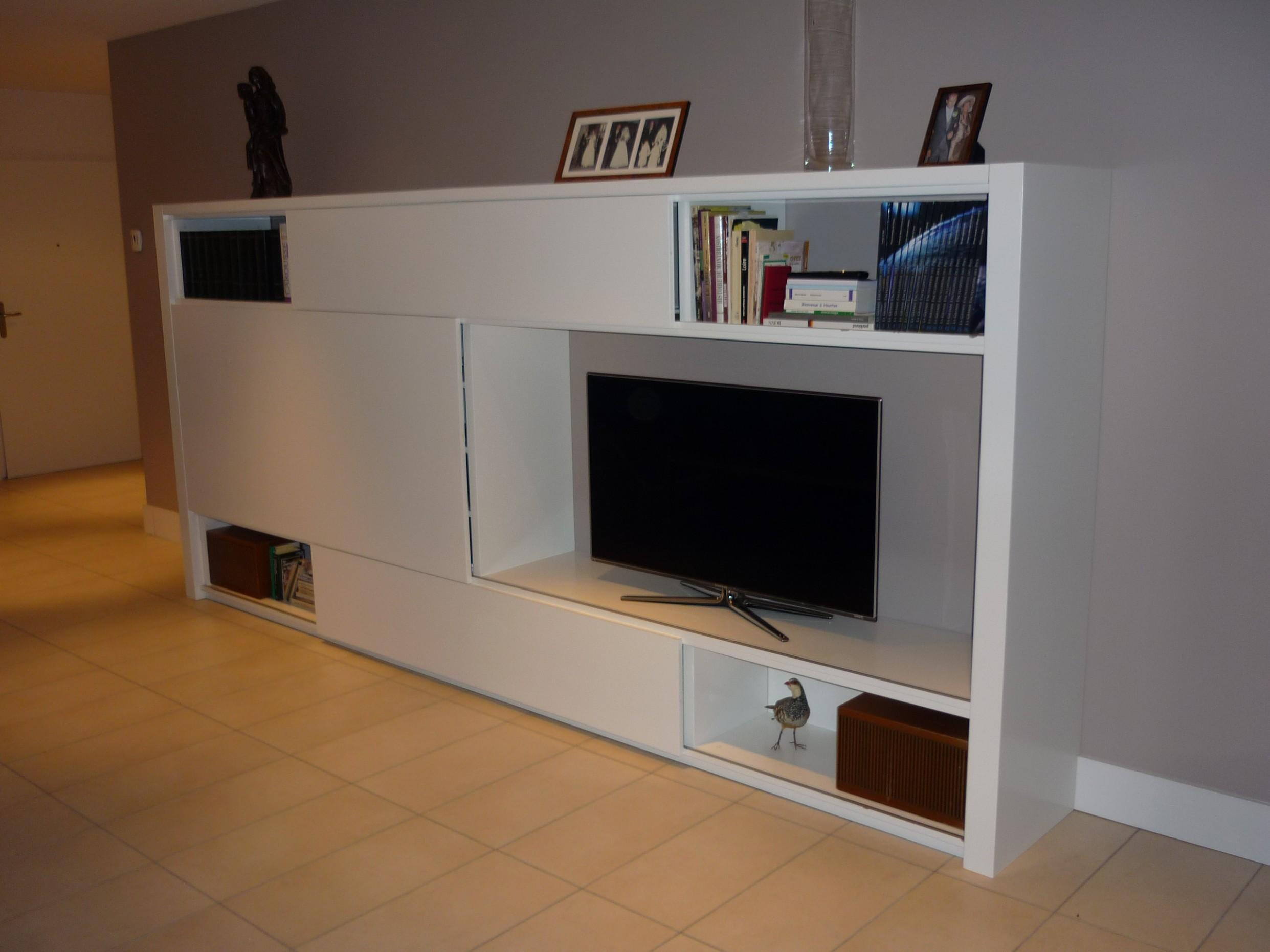 Meuble tv avec porte
