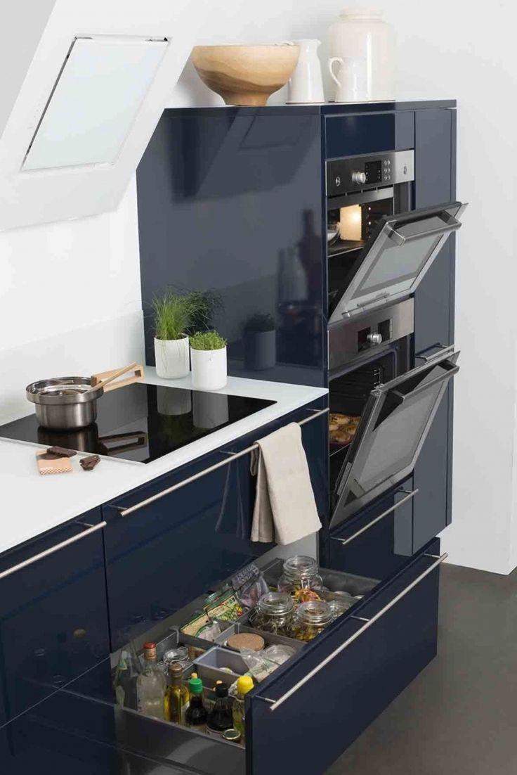 Meuble de cuisine bleu nuit id e de maison et d co - Meuble cuisine bleu ...