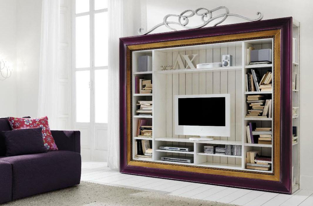 Meuble tv étagère bois