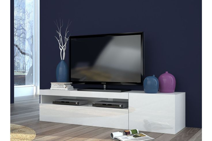 Meuble tv 1 porte colmar - blanc