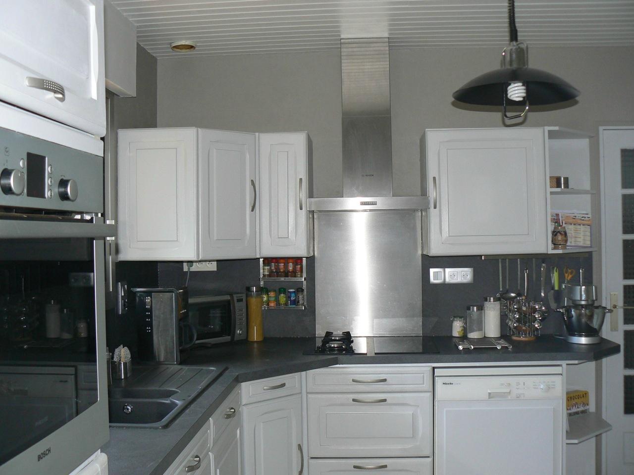 Meuble de cuisine gris perle - Idée de maison et déco