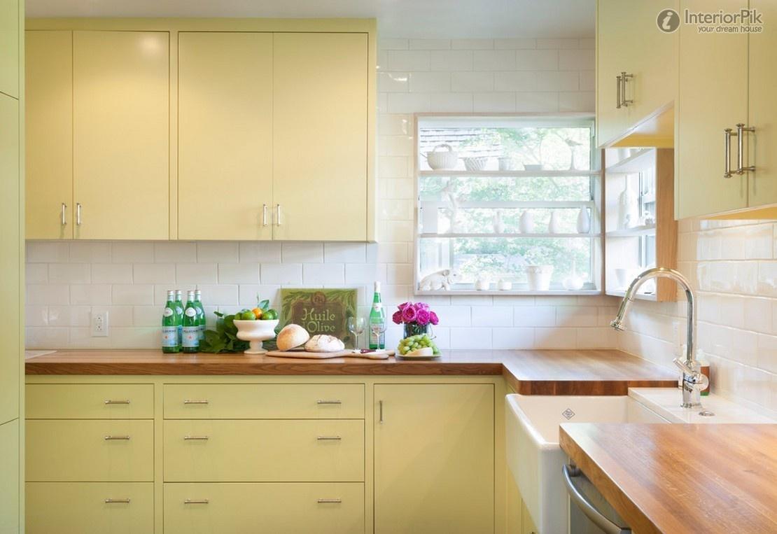 Meuble de cuisine jaune pale - Idée de maison et déco