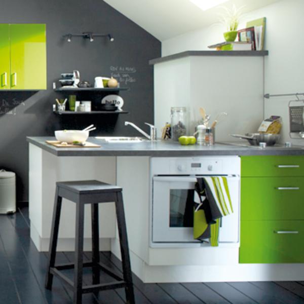 meuble de cuisine vert anis