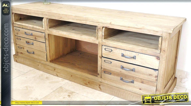 meuble tv bois brut id e de maison et d co. Black Bedroom Furniture Sets. Home Design Ideas