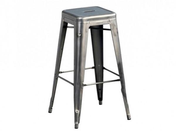 Tabouret de bar metal gris