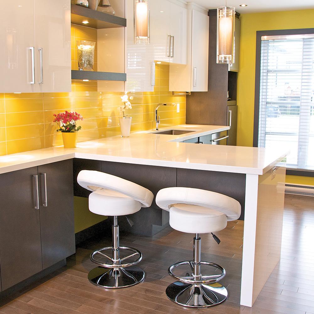 Meuble de cuisine jaune - Idée de maison et déco