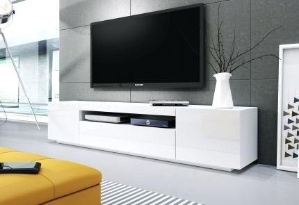 Banc tele blanc id e de maison et d co - Meuble tv a fixer au mur ...