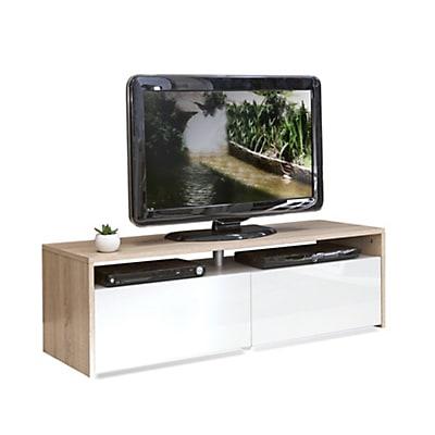 Meuble tv blanc en bois
