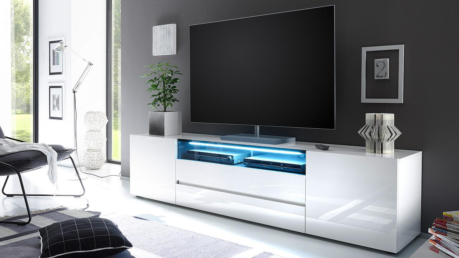 Meuble tv long design