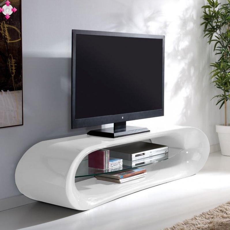 Meuble television blanc