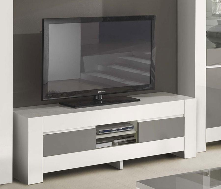 Grand meuble tv blanc