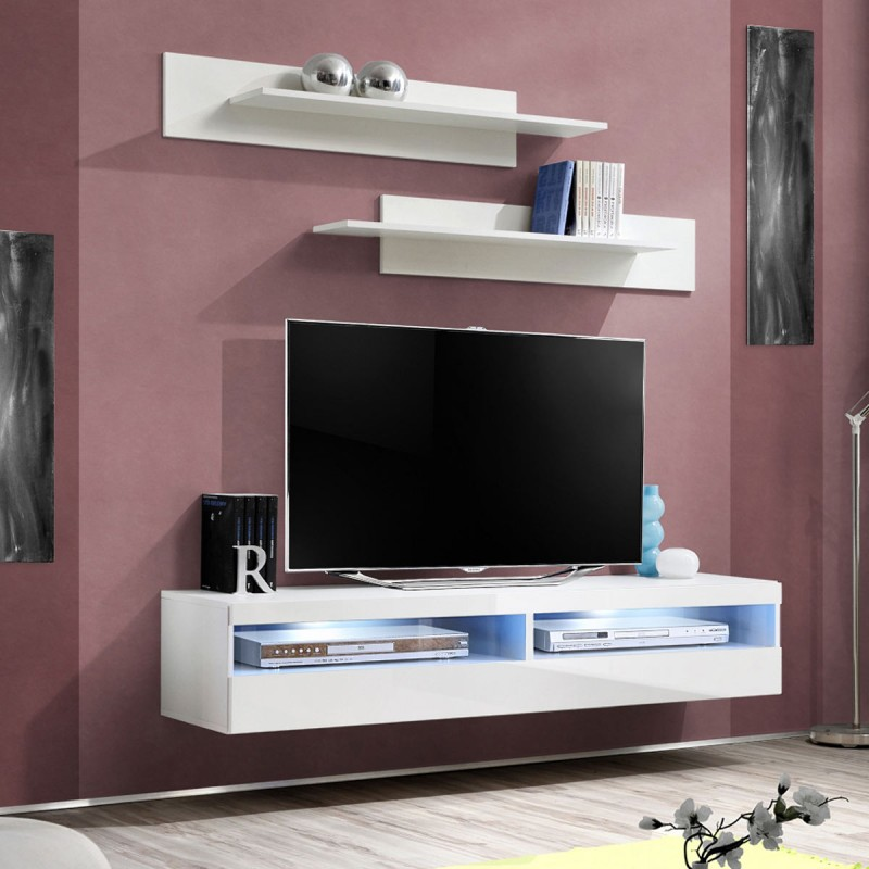 meuble tv fix au mur id e de maison et d co. Black Bedroom Furniture Sets. Home Design Ideas