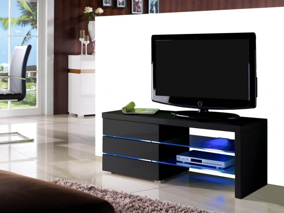 Meuble tv haut noir