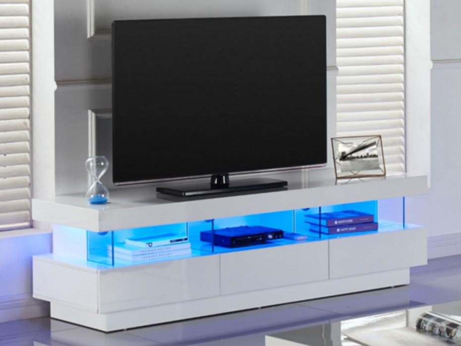 Meuble tv 4 tiroirs avec led