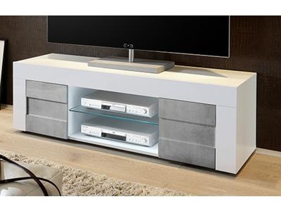 Meuble tv gris et blanc