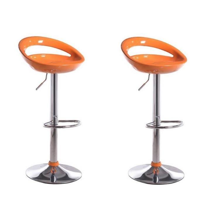 Tabouret bar orange