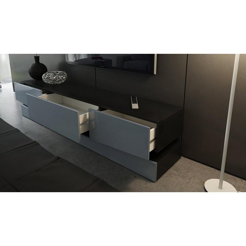 meuble tv qui s 39 accroche au mur id e de maison et d co. Black Bedroom Furniture Sets. Home Design Ideas