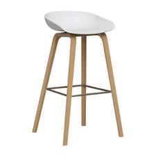 Chaise bar blanc bois