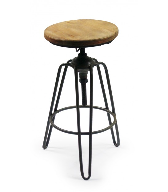Tabouret de bar bois metal