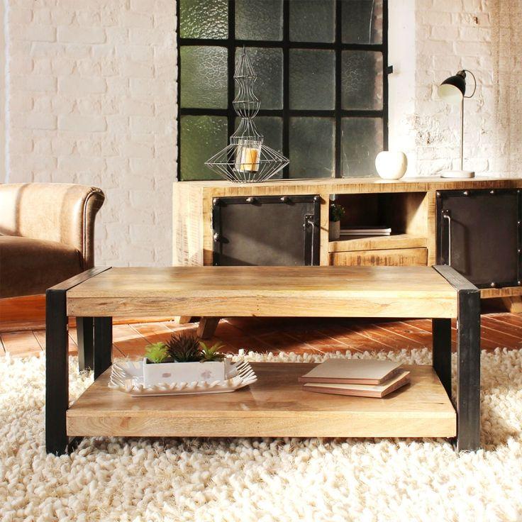 Table basse style loft industriel