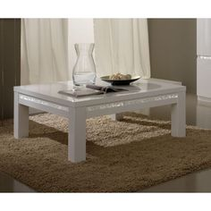 Table basse carrée wengé pas cher