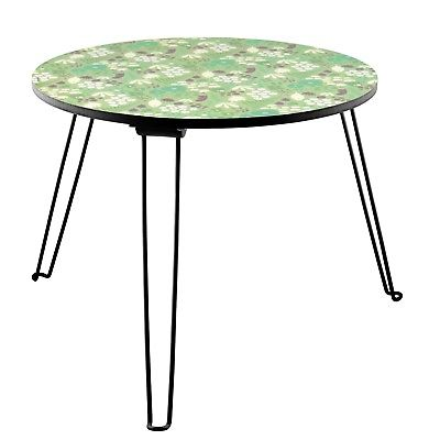 Table basse ronde pliable