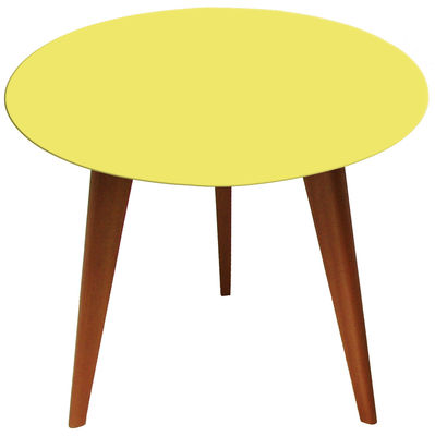 Table basse ronde jaune
