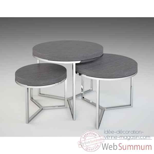 Table Basse Ronde Verre Inox Idee De Maison Et Deco